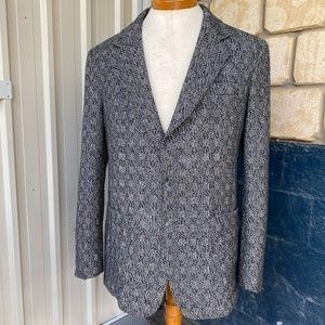 Navy/white tweed jacket, unisex, suit 46-48' chest